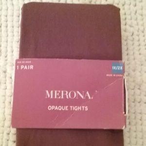 NWT Merona Opaque Tights 1X/2X